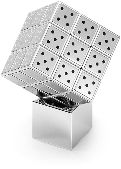 Stainless-Steel Twister Cube